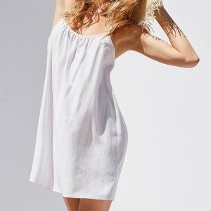 Urban Outfitters BDG White Striped Flowy Dress